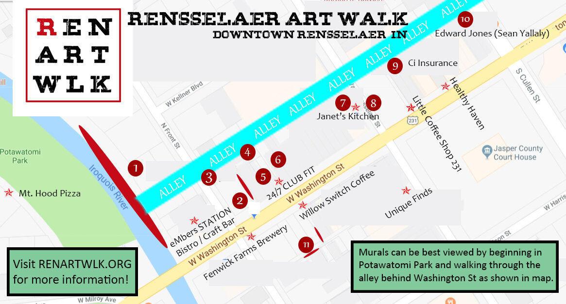 Mural map of ART WLK