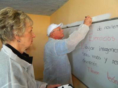 Repainting Clasroom in Mexico