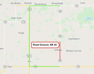 SR 49 closure