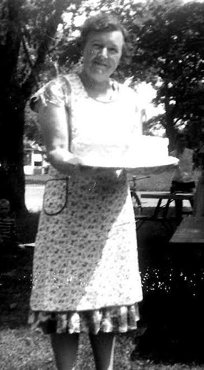 Vera Randolph, postmaster at Parr
