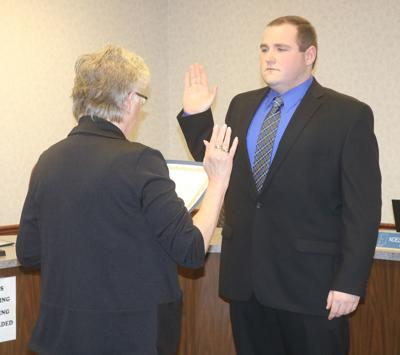 Wilson sworn in at Monday's city council meeting