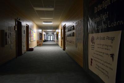 Brookston elementary hallway
