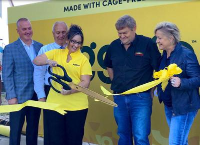 Cutting the yellow ribbon