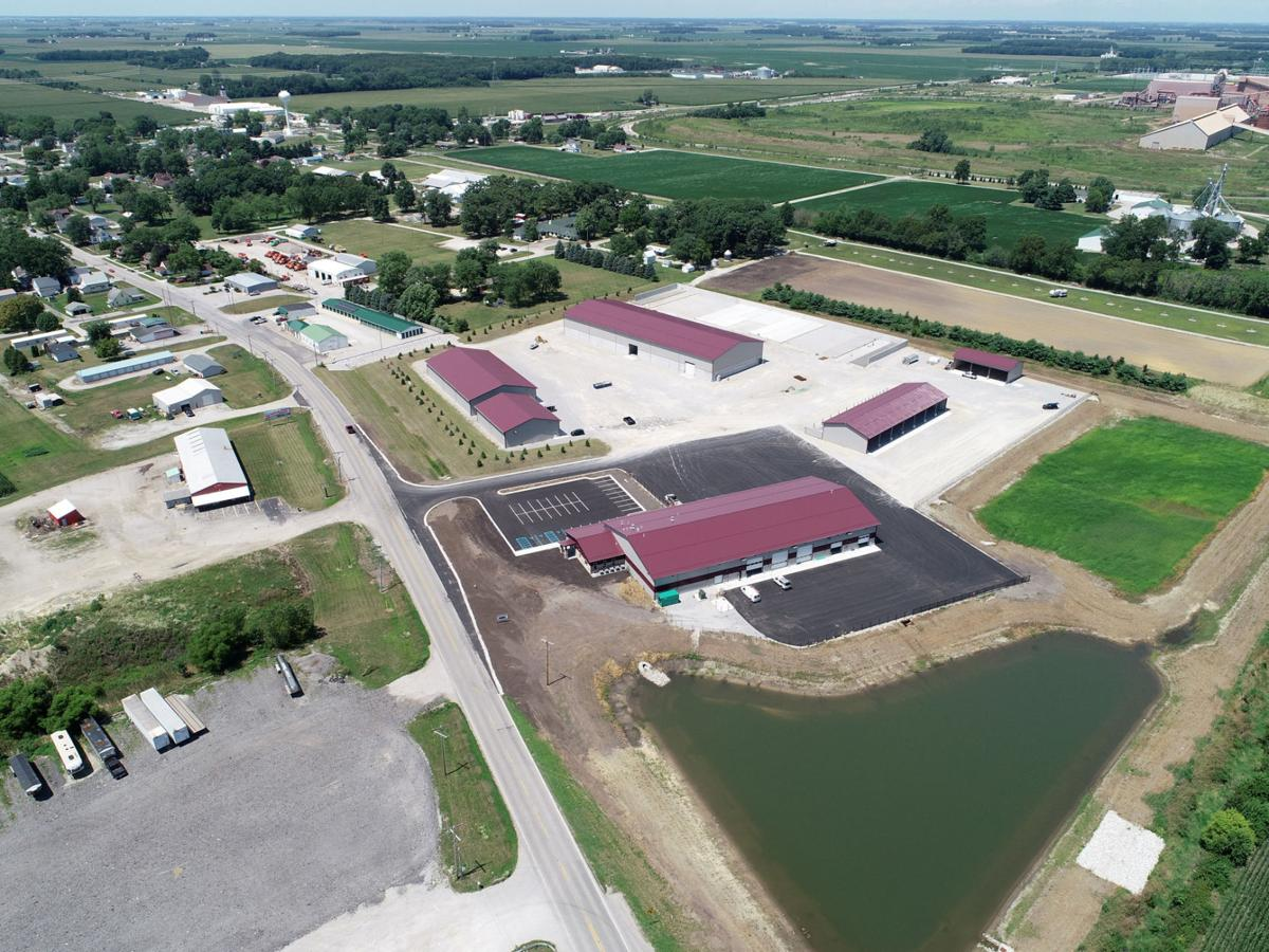 Aerial view of new county highway garage