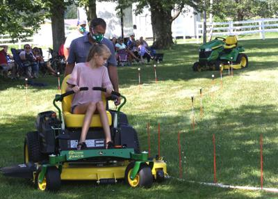 Sara Zarse competes in Zero-Turn Mower Operator Competition