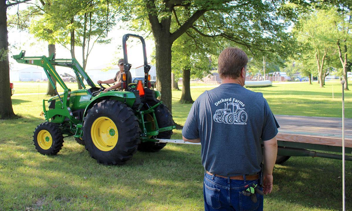 Wyatt Hornback driver test for farm tractor safety
