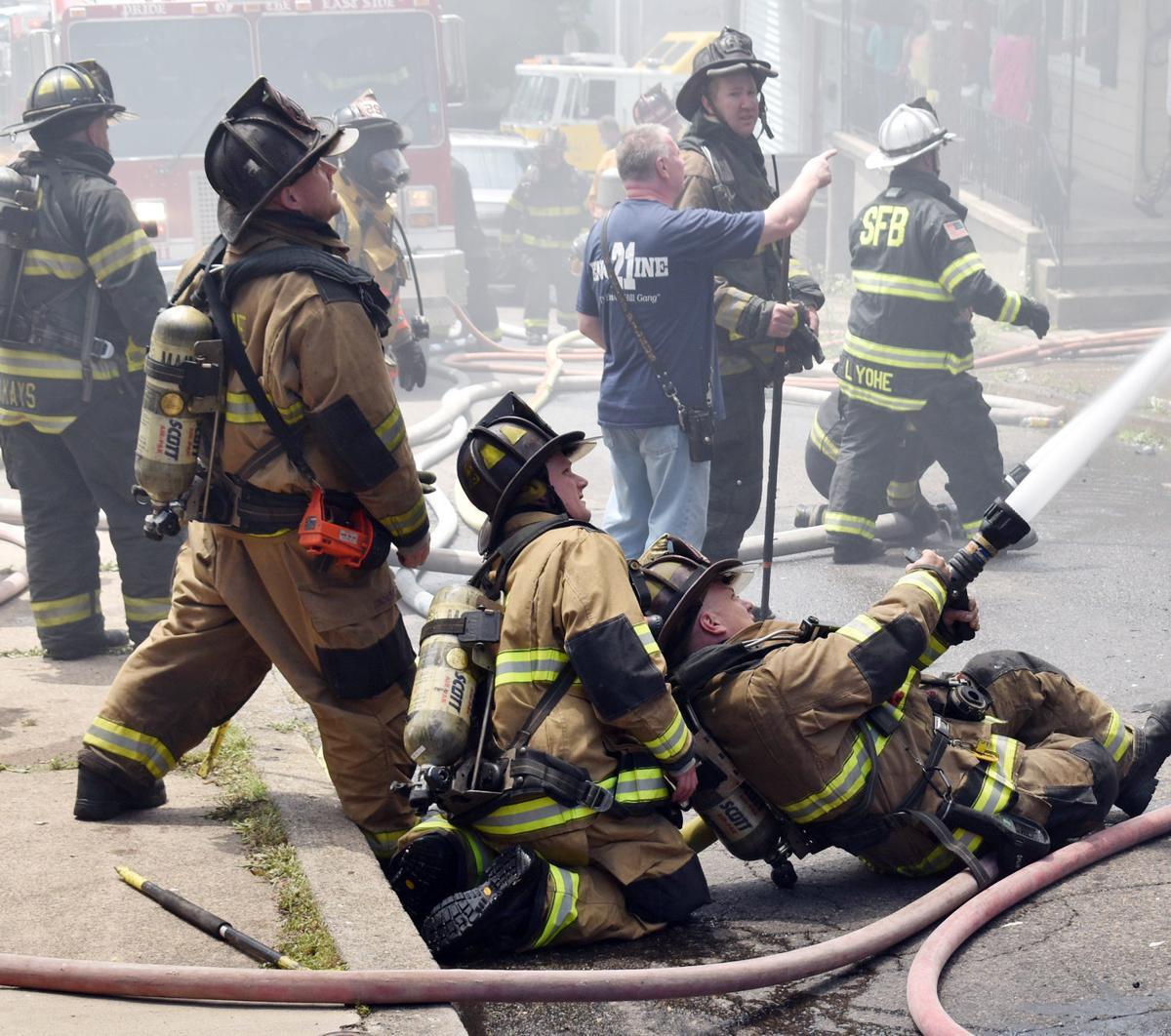 Shamokin fire destroys half-double