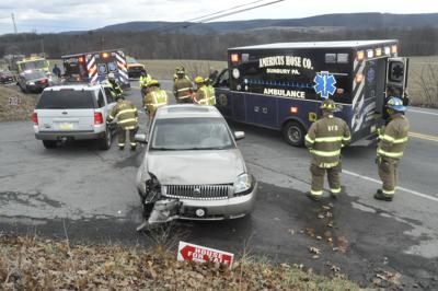 Vehicles towed after crash on Route 61