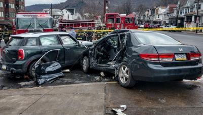 Sunday morning automobile crash in Shamokin