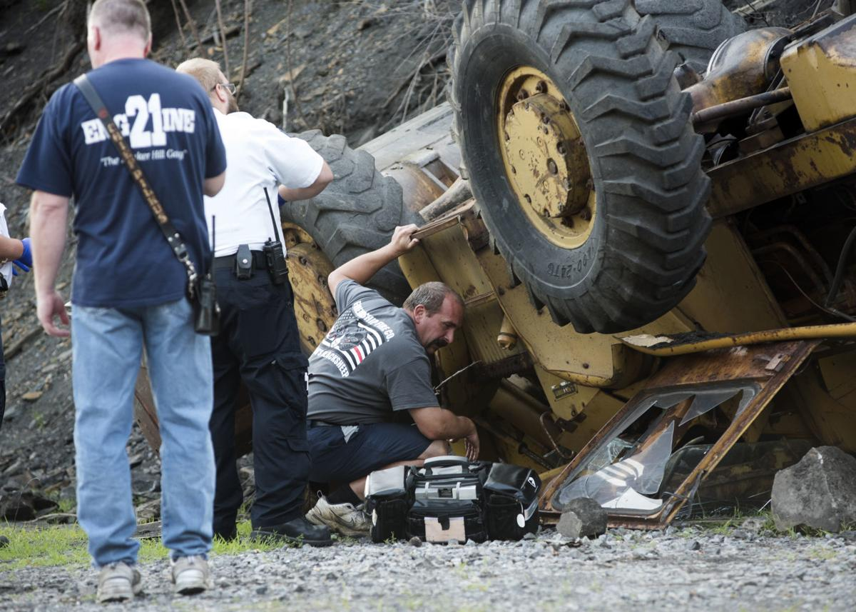 Man trapped in 10-ton loader for 35 minutes