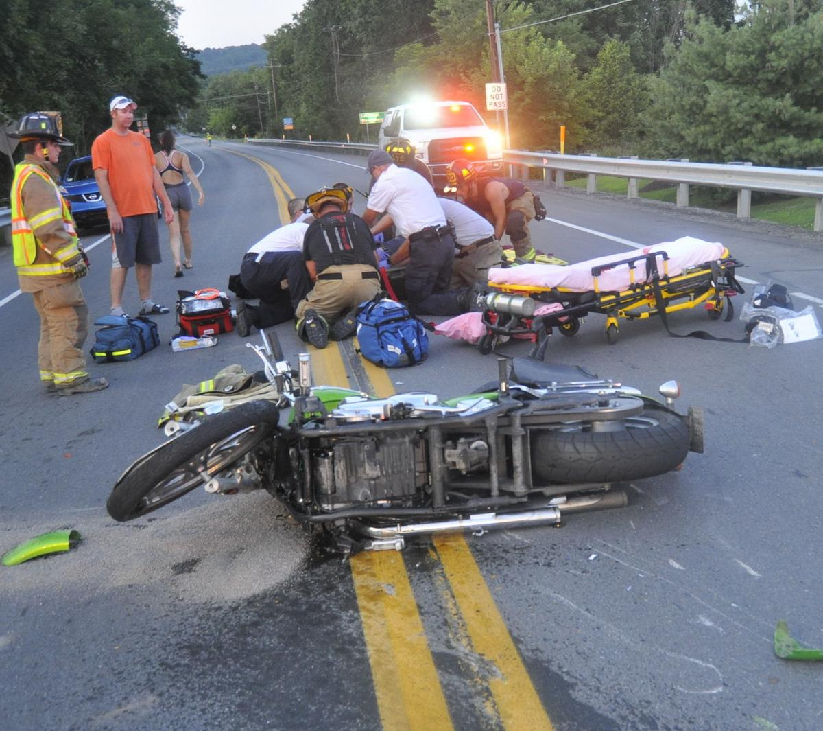 Two injured after motorcycle crash   Local   newsitem com