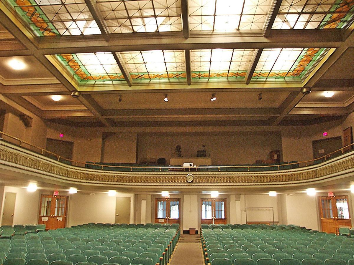 NCCAC auditorium with ceiling illuminated