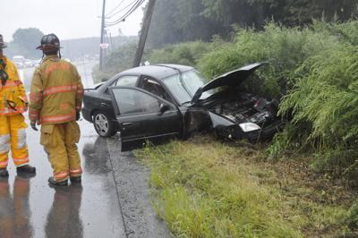 One-vehicle accident on Rt. 61 near Wayside