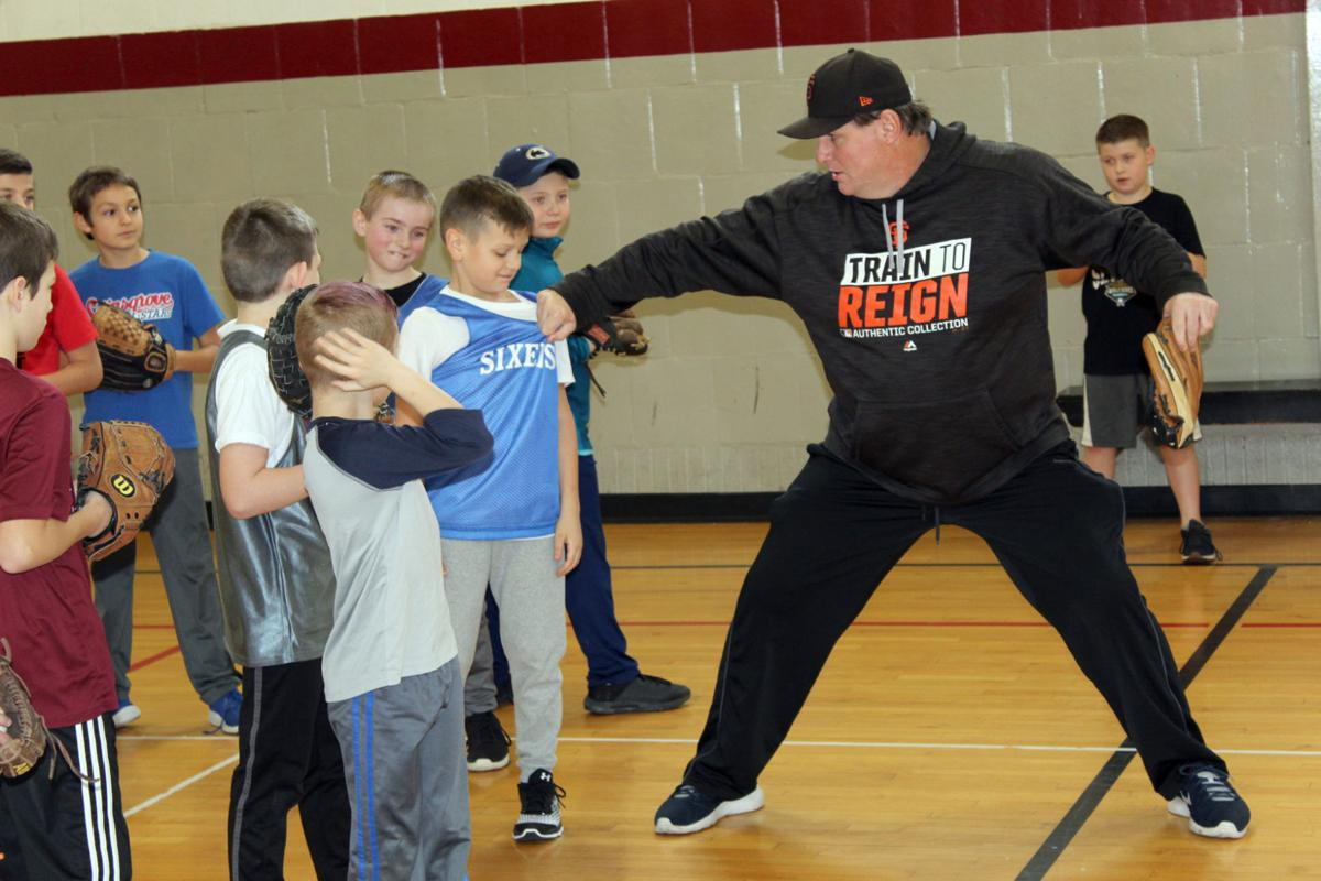 Former big leaguer instructs pitching talent