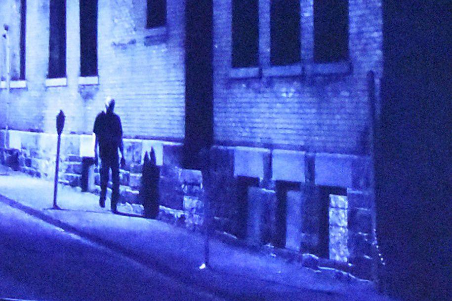 Dark alleyway scene