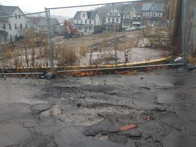 Shamokin Street potholes