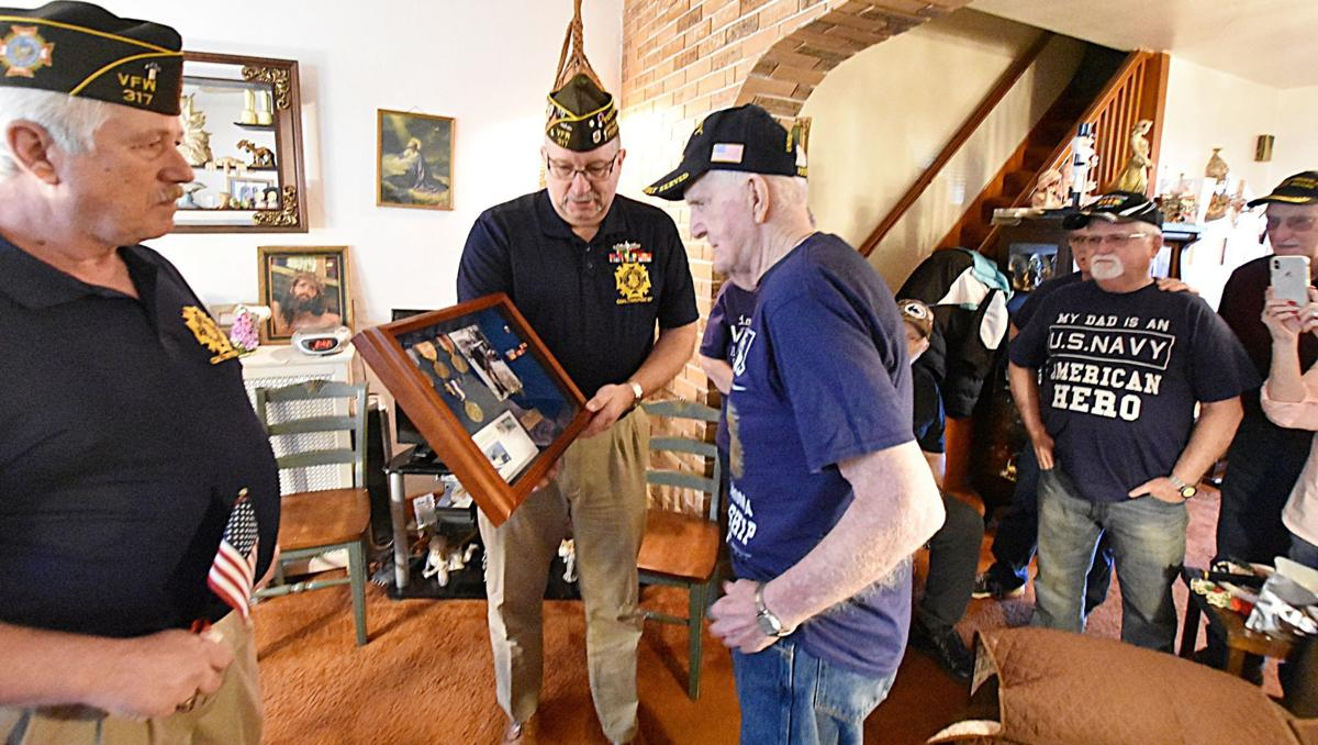 VFW presents medals to WWII Veteran