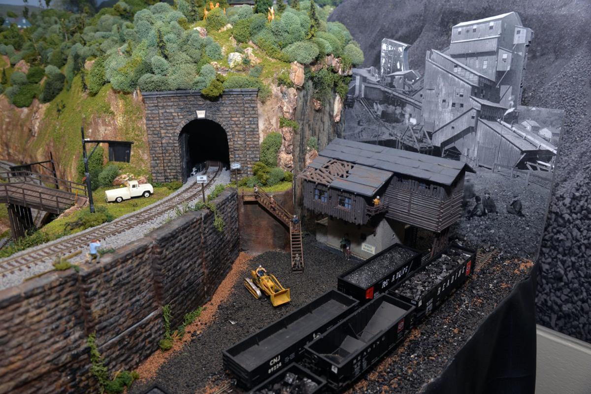 Coal mine train display