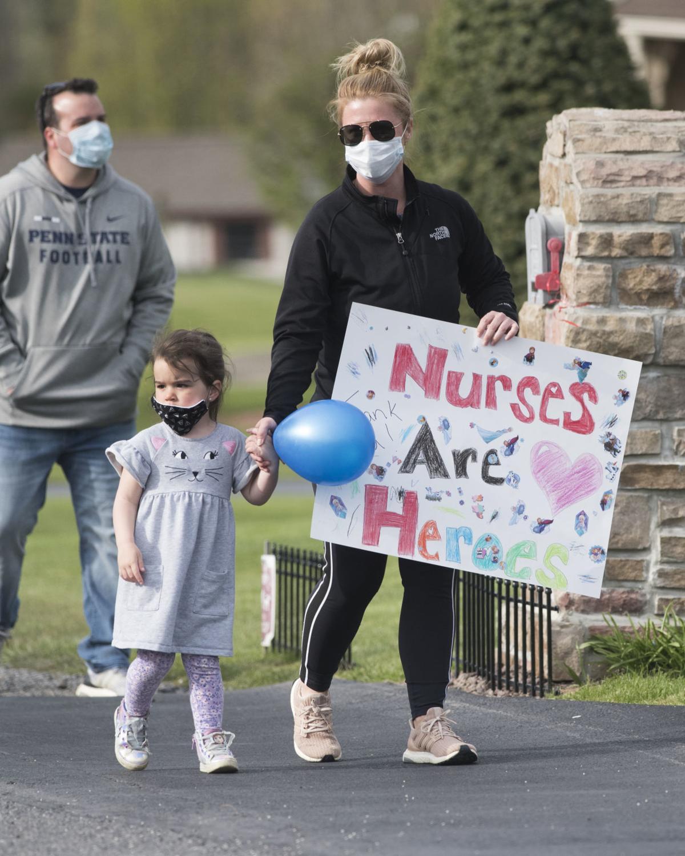 Elysburg community gives sendoff to nurse headed to California