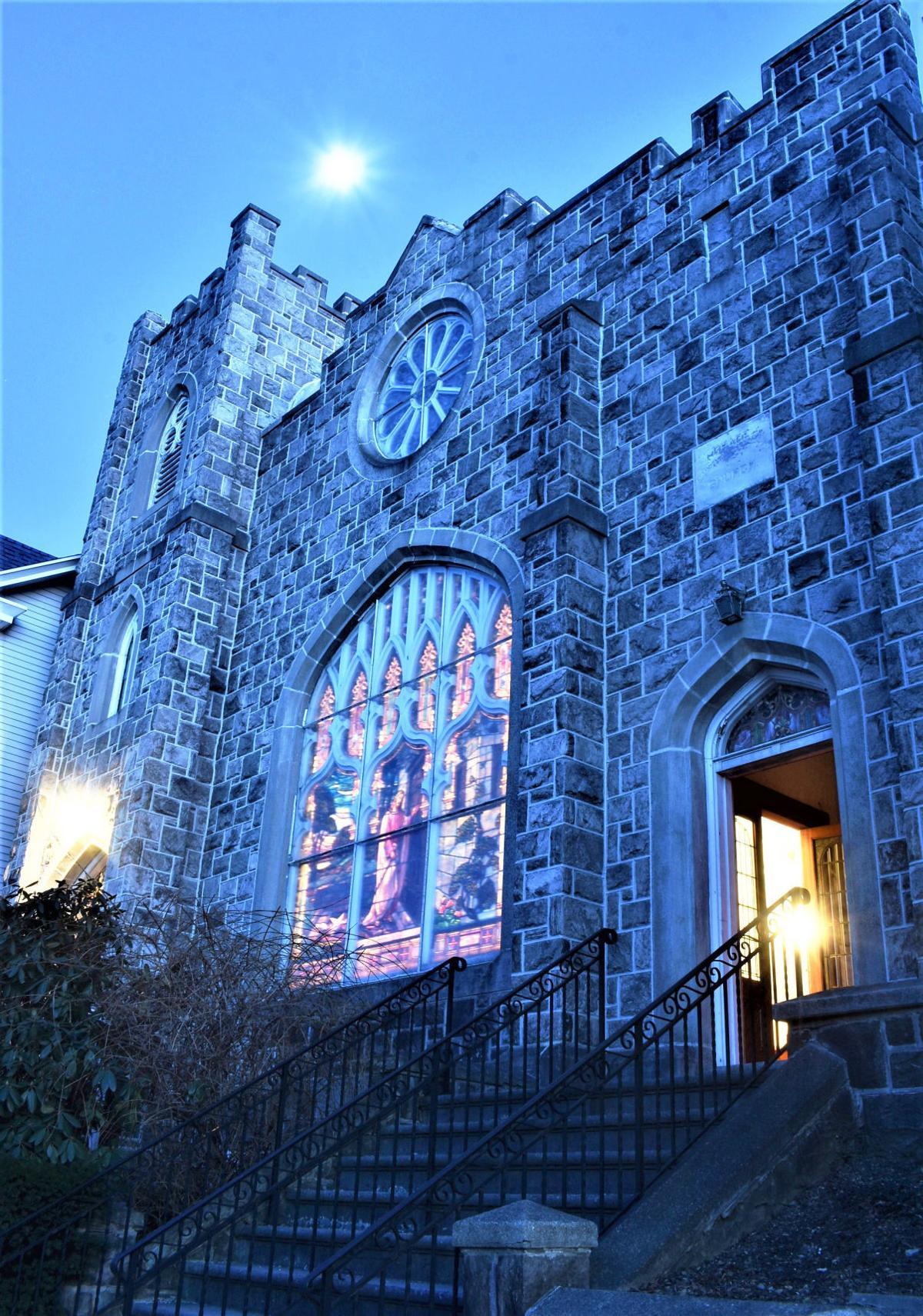 Grace Lutheran at night