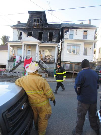 Springfield fire investigators work on site
