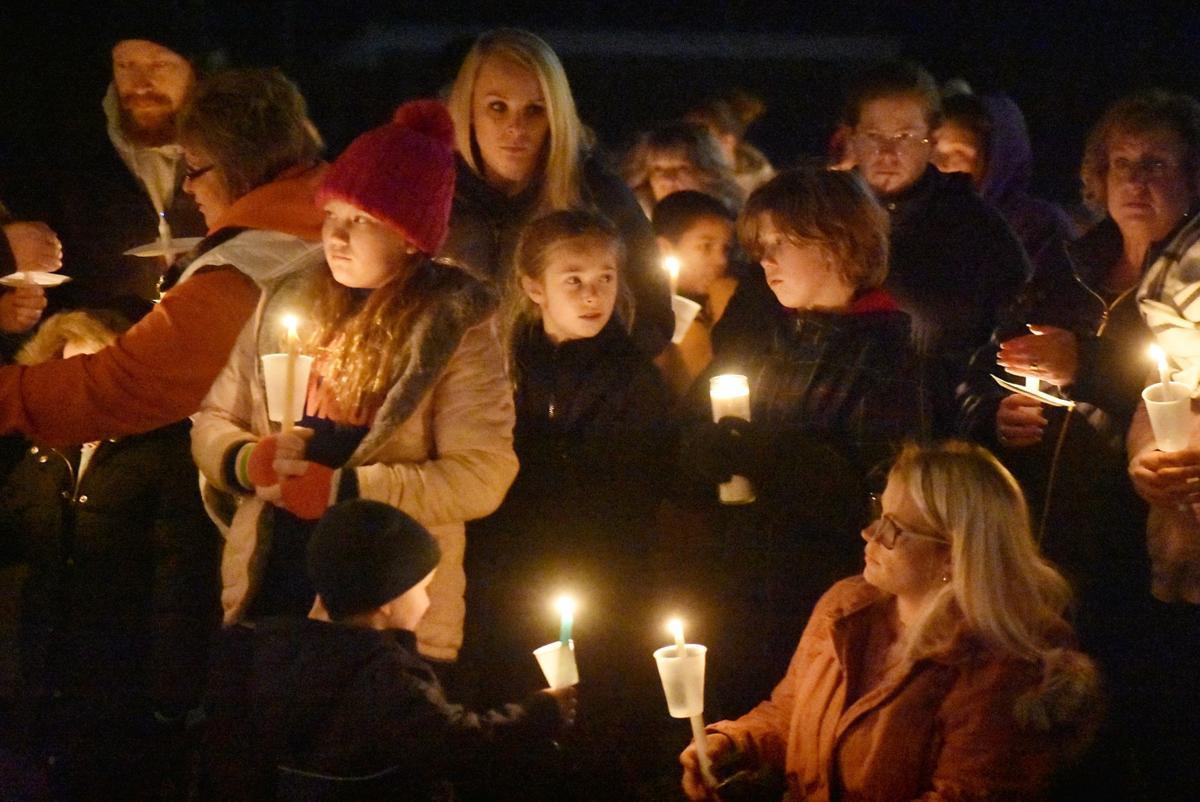 Parker candlelight vigil crowd closeup