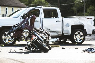 Motorcyclist critically injured
