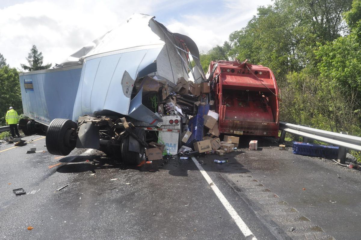 I-80 fatal accident tractor-trailer and garbage truck