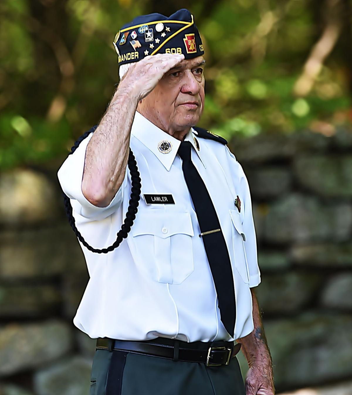 Post commander salute