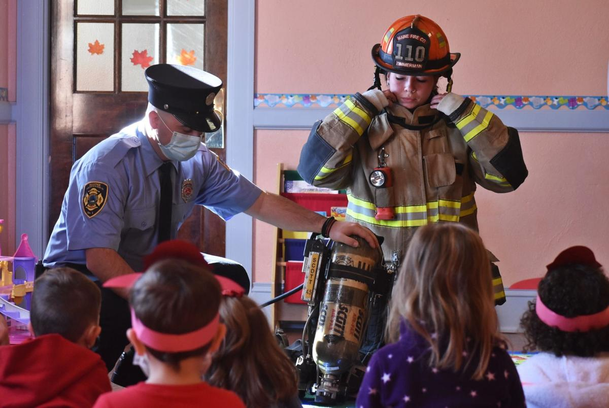 Lesson about firefighting gear