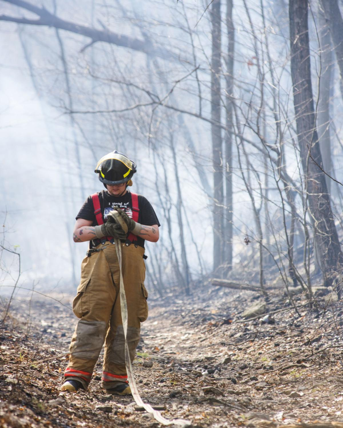 Wildfire burns several acres of woods in East Cameron Township