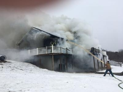 Fire in East Cameron Township