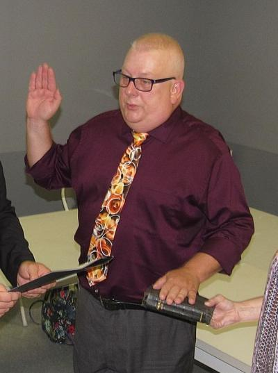 White sworn in as Shamokin Code Officer (copy)