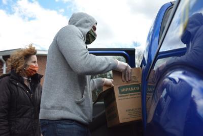 Salvation Army food distribution