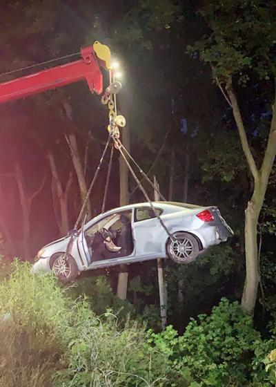 Coal Township man escapes injury in spectacular crash Sunday morning