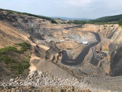 View of Blaschak coal mining site located near Mount Carmel