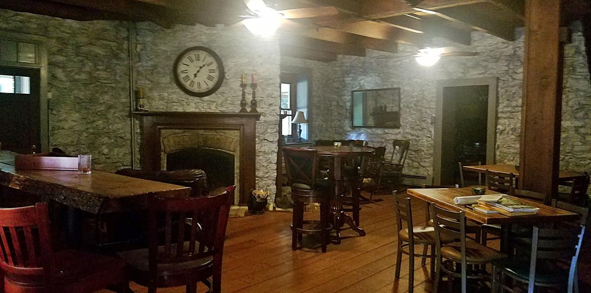 Interior view of tavern and public dining area