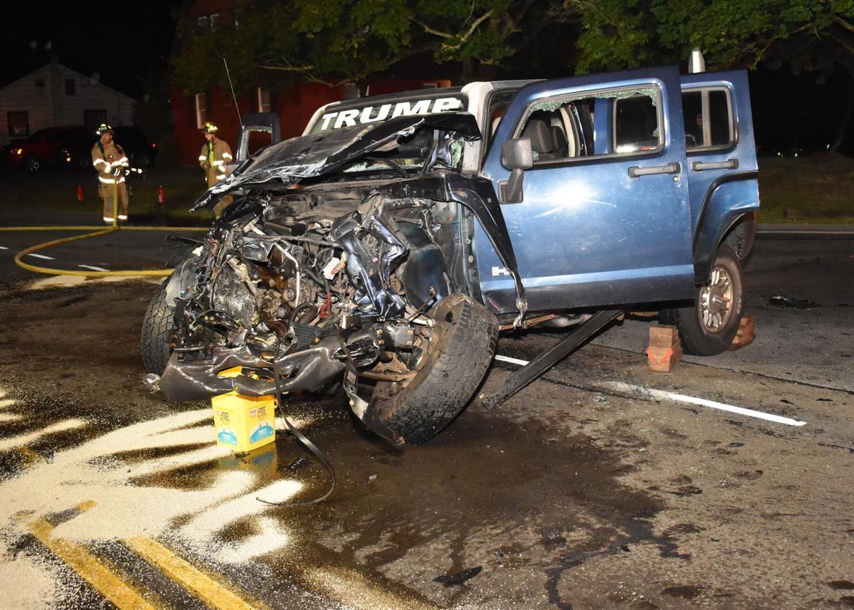 Hummer, PPL truck totaled in crash