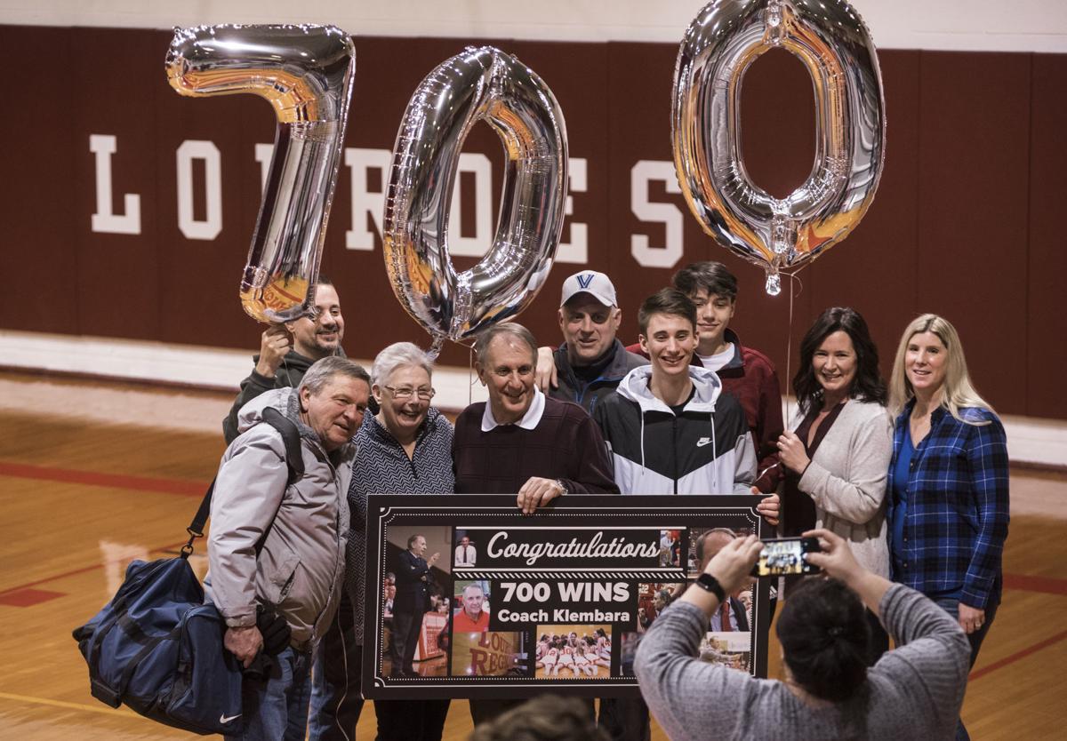 Lourdes girls basketball coach nets 700 wins