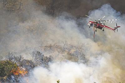 El Dorado Fire continues to burn