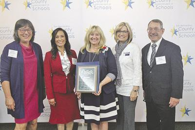 County Distinguished Service award to Jane Smith