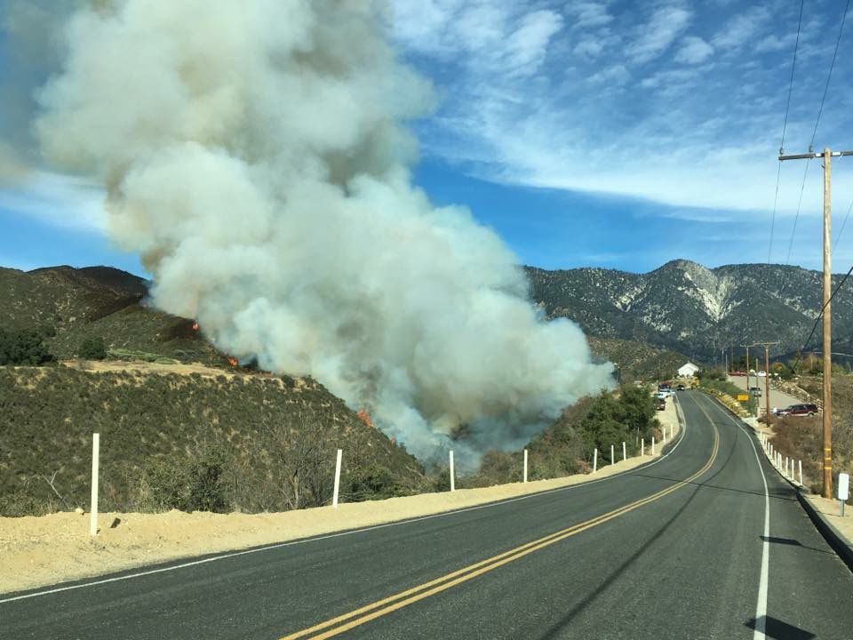 UPDATE: car collision leads to Yucaipa wildfire