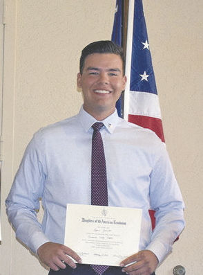 Daughters of the American Revolution recognize Yucaipa High's Ryan Grinnals