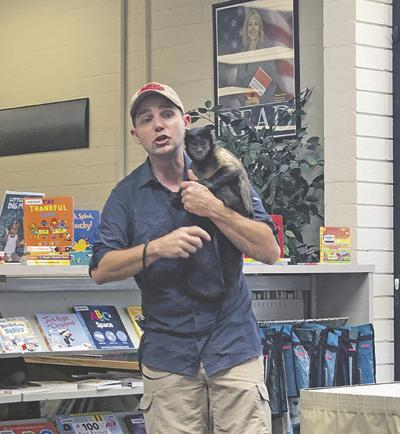 Saving Wildlife International visits the Yucaipa Library with a variety of fascinating critters