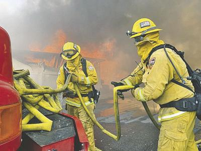 Sandalwood Fire in Calimesa destroys 74 mobilehomes