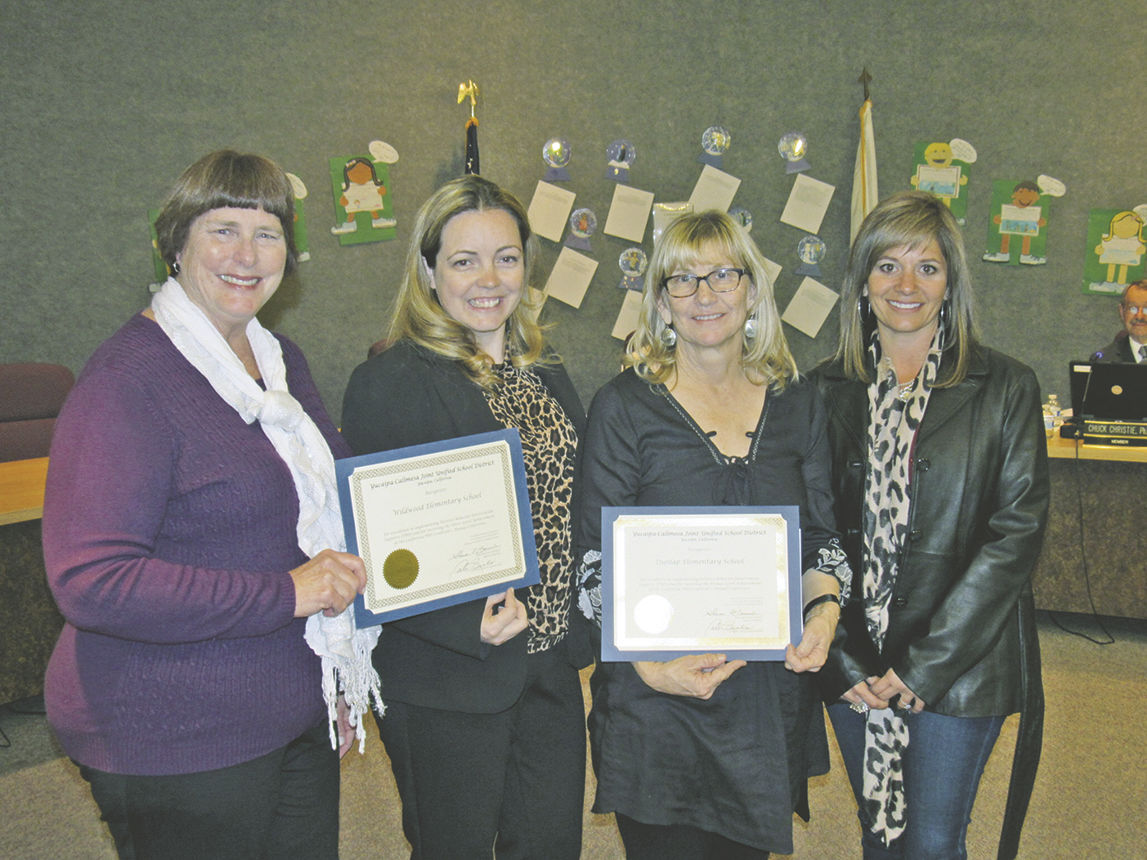 Yucaipa Calimesa Board of Education recognizes Positive Behavior Intervention and Support program