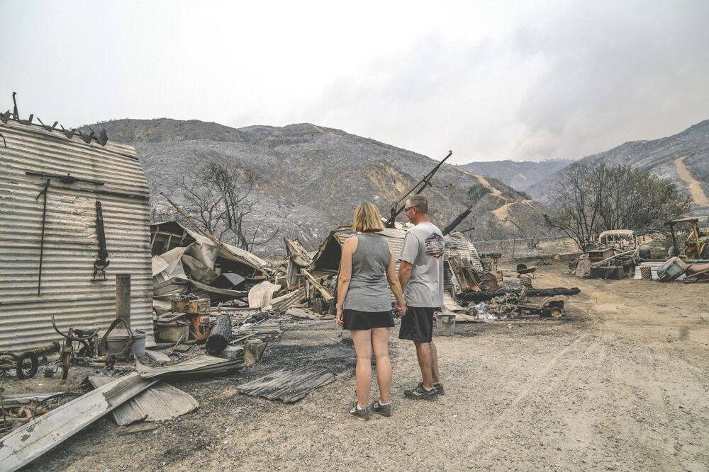El Dorado Fire destroys barn, pickup truck and family memories