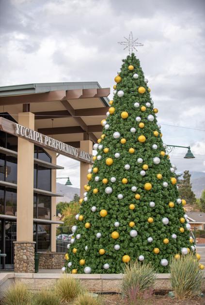 Yucaipa 2020 Christmas Tree Lighting New Christmas tree at the Yucaipa Performing Arts Center   News