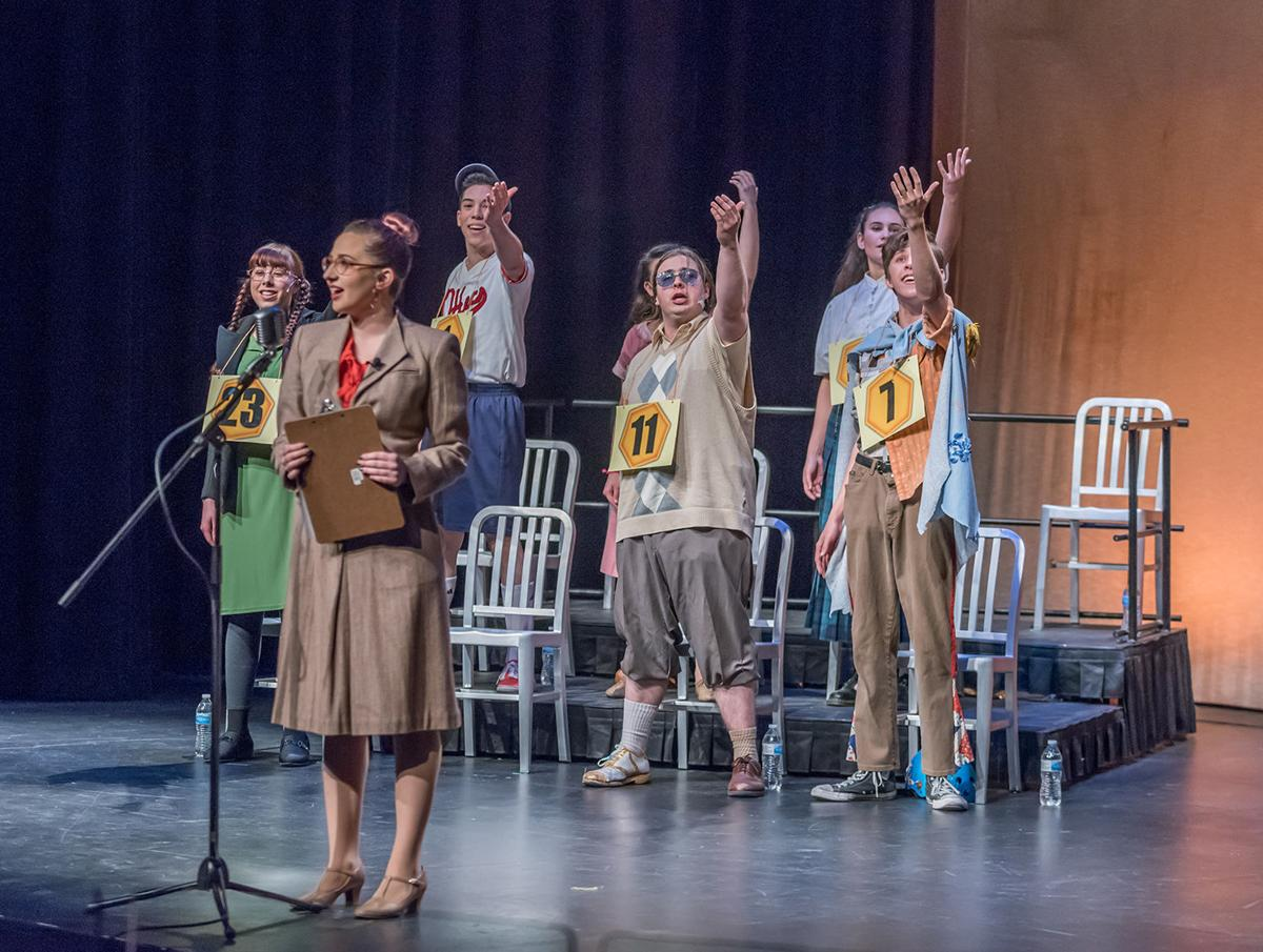 The cast of the 25th Annual Putnam County Spelling Bee at Crafton Hills College.