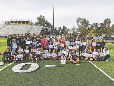 Big turn out for Yucaipa High soccer clinic
